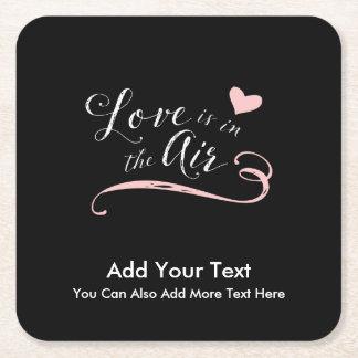 Liebe ist in der Luft - der Tag oder die Hochzeit Rechteckiger Pappuntersetzer