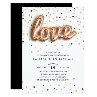 Liebe ist in der Verlobungs-Party Einladung der