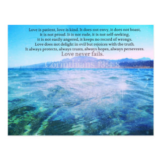 Liebe ist, Liebe ist Kind Bibel-Vers geduldig Postkarte