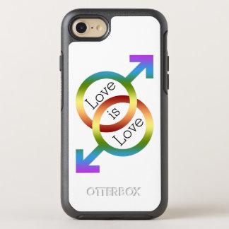 Liebe ist Liebe-Regenbogen-männliche OtterBox Symmetry iPhone 7 Hülle
