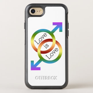 Liebe ist Liebe-Regenbogen-männliche OtterBox Symmetry iPhone 8/7 Hülle