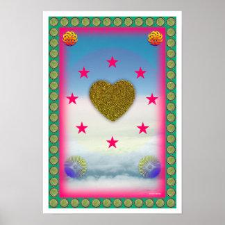 Liebe ist Plakat der Friedensheilenden Kunst