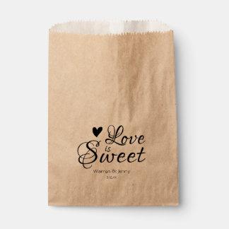 Liebe ist süße | Bevorzugungs-Taschen Geschenktütchen