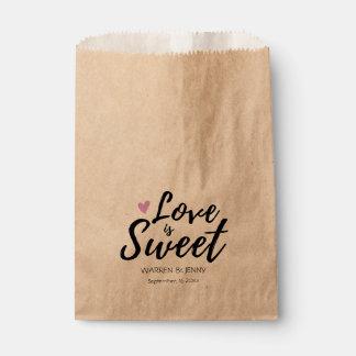 Liebe ist süße | Gastgeschenk Hochzeits-Taschen Geschenktütchen