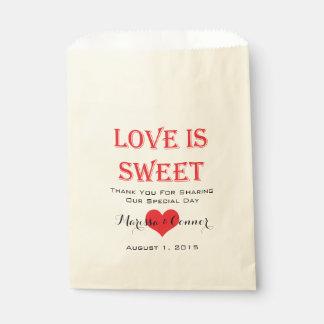 Liebe ist süße rote und schwarze Hochzeits-Taschen Geschenktütchen