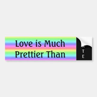 Liebe ist viel hübscher als Hass-Autoaufkleber Autoaufkleber