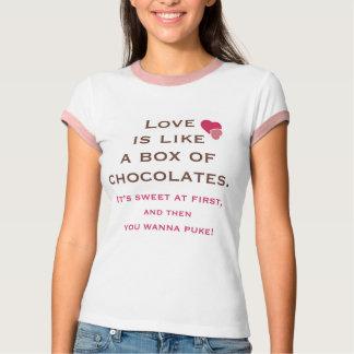 Liebe ist wie ein Kasten des Schokoladen-T - Shirt