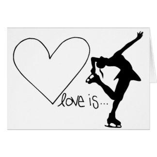Liebe ist Zahl Skaten, Mädchen-Skater u. Herz Karte