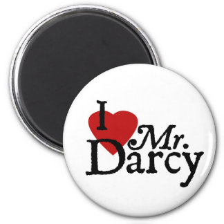 LIEBE Janes Austen I Herr Darcy Runder Magnet 5,1 Cm