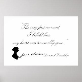 Liebe Janes Austen und Freundschafts-Zitat Poster