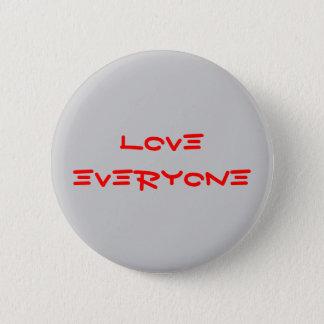 """""""Liebe jeder"""" Knopf Runder Button 5,1 Cm"""