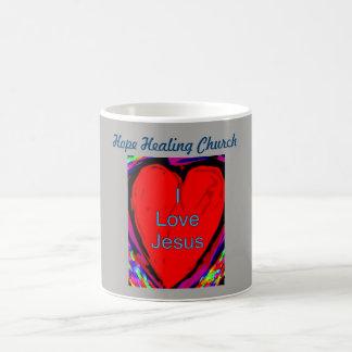 Liebe-Jesus-Kaffee-Tassen-Schale der Tasse