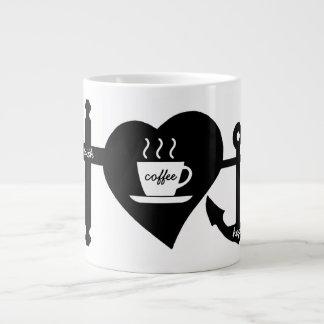 Liebe-Kaffee-Tasse Jumbo-Tasse
