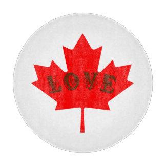 Liebe Kanada-Ahornblattglasschneiden breit Schneidebrett