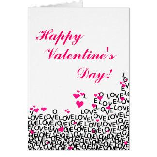 Liebe-Karte des Valentines Tages Karte