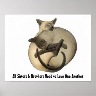 Liebe-Katzen-Plakat Poster