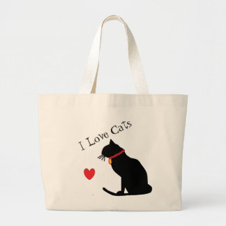 Liebe-Katzen-rotes Herz des Tunnel-bohrwageni und Jumbo Stoffbeutel