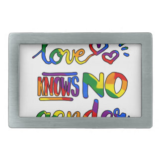 Liebe kennt kein Geschlecht Rechteckige Gürtelschnallen