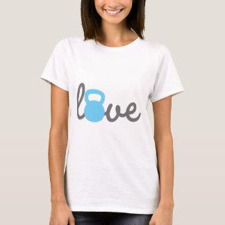 Liebe Kettlebell Blau T-Shirt
