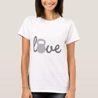 Liebe Kettlebell Grau T-Shirt