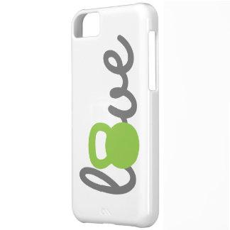 Liebe Kettlebell Grün iPhone 5C Hülle