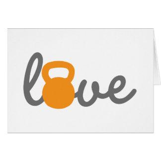 Liebe Kettlebell Orange Karte