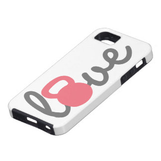 Liebe Kettlebell Rosa iPhone 5 Cover