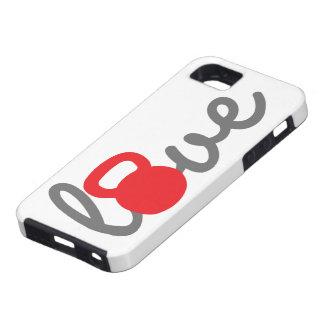 Liebe Kettlebell Rot iPhone 5 Schutzhüllen