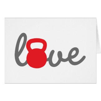 Liebe Kettlebell Rot Karte