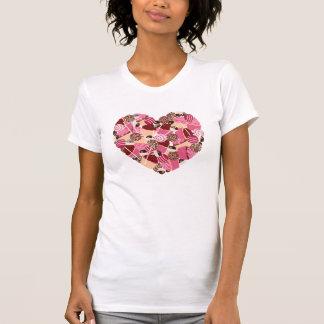Liebe-kleine Kuchen des Rosa-I und Cakepops Herz T-Shirt