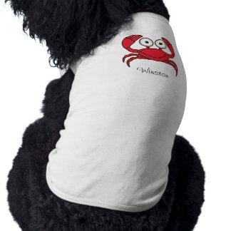 Liebe-Krabben-Hündchen-gewellte Behälter-Spitze Ärmelfreies Hunde-Shirt