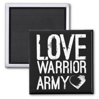 Liebe-Krieger-Armee-Quadrat-Magnet Quadratischer Magnet
