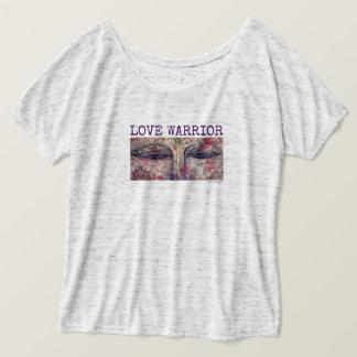 Liebe-Krieger Buddha mustert der Flowy der Frauen T-Shirt