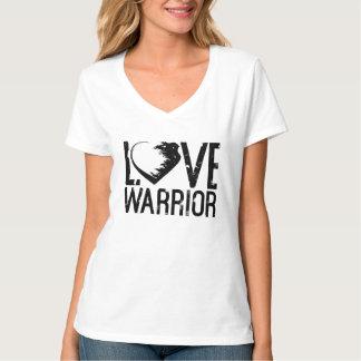Liebe-Krieger V-Hals T - Shirt