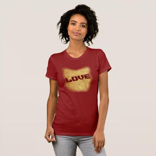 Liebe -- Kunst auf einem Shirt --T - Shirt