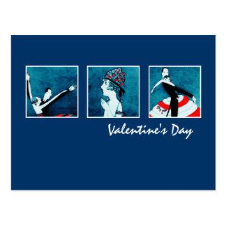 Liebe. Kunst-Deko-Postkarten des Valentines Tages Postkarten