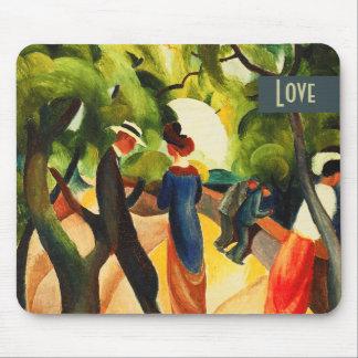 Liebe. Kunst-Valentinstag-Geschenk Mousepad