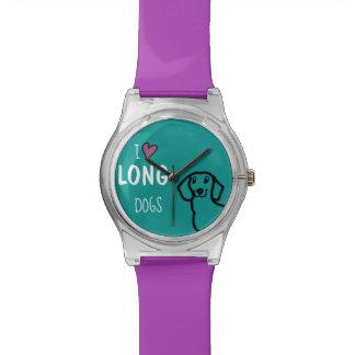 Liebe-lange Hunde der Dackel-niedliche Armbanduhr