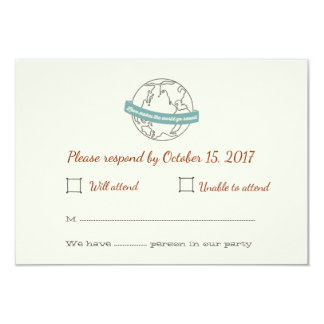 Liebe lässt die Welt ringsum Hochzeit UAWG-Karte Karte