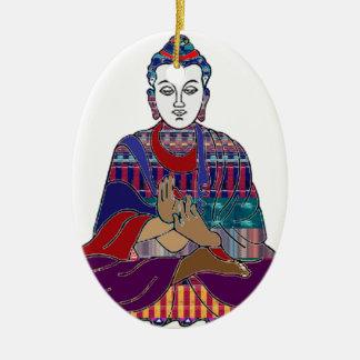 LIEBE-LICHT Frieden Buddhismus BUDDHAS Mahatma Ovales Keramik Ornament