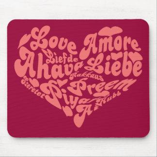 Liebe Liebe Liebe in allen Sprachen Mousepads