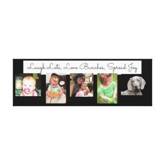 Liebe-Lose, Textology Foto-Collage eingewickelte Leinwanddruck