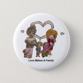 Liebe macht eine Familie durch Ainsley--Knopf Runder Button 5,7 Cm