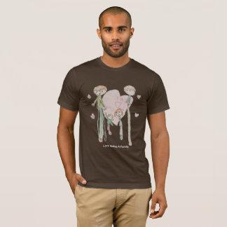 Liebe macht eine Familie durch Annika--Das Brown-T T-Shirt