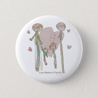 Liebe macht eine Familie durch Annika--Knopf Runder Button 5,7 Cm