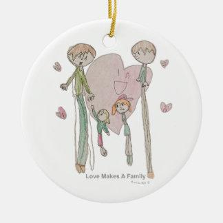 Liebe macht eine Familie durch Annika--Verzierung Keramik Ornament