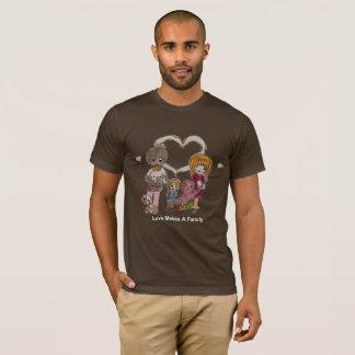 Liebe macht eine Familie durch das Brown-T - Shirt