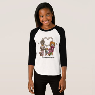 Liebe macht eine Familie durch T-Shirt