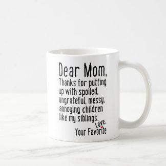 Liebe Mamma [Geschwister-Version] Kaffeetasse
