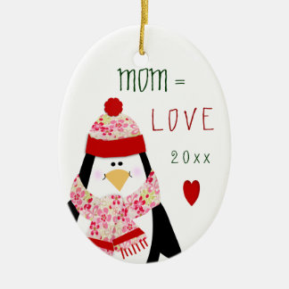 Liebe MAMMA Penguin-Weihnachtsgeschenk 2017 Keramik Ornament